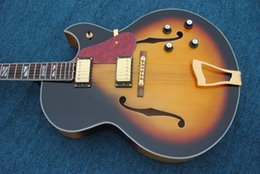 Wholesale China Guitars For Sale - Wholesale- high-quality wine in front of the sun is completed L5 guitar spruce lateral China tiger hollow body electric guitar for sale