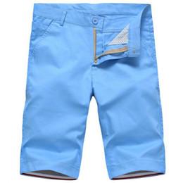 Wholesale Cotton Beach Wear - Wholesale-2016 New brand mens solid casual Men's shorts fashion cotton homme beach shorts daily wear khaki army green orange 29-36 8color