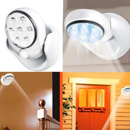 Wholesale Cordless Wall Lights - 7 LEDs AUTO Motion activated Sensor Light Wall Lamps cordless light 360 Degree Rotation Porch Cabinet Lights DHL free shipping