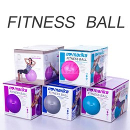 Wholesale 65cm Yoga Ball - Marika Wholesale 65cm Smooth PVC Yoga Ball Fitness Equipment Pilates Fitball Anti-Explosion Gym Ball Aplicable For Pregnant With Free Pump