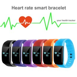 Acheter en ligne Moniteur de sommeil de podomètre-Bracelet étanche au coeur de la fréquence cardiaque Podomètre Sleeping Monitor Appareil photo à distance (couleur: noir, bleu, rouge, violet, orange, bleu foncé) Fit Android