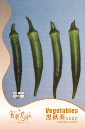 Wholesale Import Pack - Black Okra Seeds Healthy Vegetable Seeds Italian Imported Seeds 6pcs   pack 3bags per lot