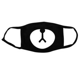 Wholesale Bear Nose - kpop EXO CHANYEOL Bear Nose Mask Three Layers Cotton Dust-proof Warm Masks Black For Men Women Fans wa3536