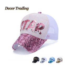 Wholesale Lace Snapback - Wholesale- NEW 2016 Summer Lace Net Baseball Caps for Women Snapback Caps Leisure Hat Fashion