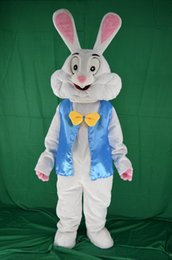 Wholesale White Easter Bunny Costume - 2017 new Easter bunny mascot costume fancy dress funny animals bugs bunny mascot adult size rabbit mascot costume
