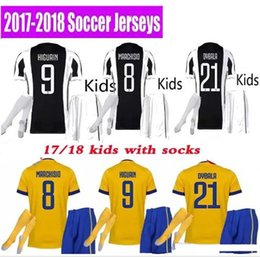 Wholesale Best Boys - Best 3A 17 18 kids Soccer jersey 2017 2018 MARCHISIO DYBALA HIGUAIN BONUCCI boys youth children Football soccer kits uniform with socks