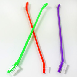 Wholesale Dental Brushes - Dog Toothbrush Cat Pet Dental Grooming Washing Tooth Brush Puppy Tooth Cleaning Tools