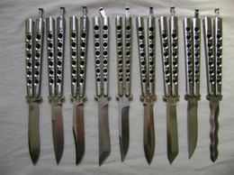 Wholesale Free Model - 8 models benchmade balisong BM41 BM42 BM43 BM46 BM47 BM49 adjustable jilt Free-swinging folding camping SPRING LATCH knife 1pcs
