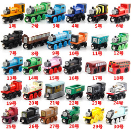 Wholesale Mini Toy Train - Wooden Mini Trains and Tracks Cartoon Toys Magnetic 53 Styles Train Friends Wooden Trains & Car Toys Best Christmas Gifts DHL Free Shipping