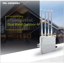 Wholesale Band Bridge - CF-WA850 COMFAST 2.4G 5G wireless bridge outdoor CPE 1750Mbps Dual Band Fiber Antenna wi-fi access point with 4*8 DBI detached antennas