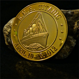 Wholesale Mail Art - 100th anniversary titanic coin Royal Mail Steamship Titanic Coin Gold Plated Collection for Souvenir