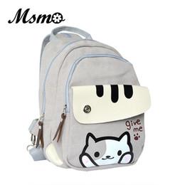 Wholesale Cartoon Games For Girls - Wholesale- Cute Japanese Game Neko Atsume Cat Backyard Printing Backpack Women School Bags For Teenager Girls College Style Casual Backpack