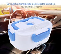 Wholesale Keep Warm Lunch Box - 12V Car Auto Multi-functional Double-deck Insulated Electronic Lunch Box Heat Preservation Warm Keeping Integrated Type 197592701