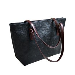 Wholesale Wholesale Quilted Leather - Wholesale- Durable Larger Capacity Leather Women Bag Women Pearl Bag Lattice Tote Geometry Quilted Handbag Shoulder