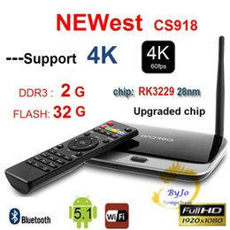 Wholesale Cs918 Android Tv - NEWest 4K Upgraded CS918 ( RK3229) 2G DDR3 8G 16G 32G Flash Quad Core CPU Support 4K Android TV Box WiFi HDMI Android 5.1 Mini PC