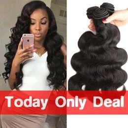 Wholesale price bundling - Best So Joy Virgin Brazilian Hair Body Wave Extensions 3 Bundles Grade 10A Wholesale price Brazilian Human Body Wave Hair Weaves