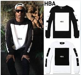 Wholesale Draped Hoodie - HBA big block pullover Been Trill outerwear Hood By Air O-Neck hoodies sweatshirts pyrex streetwear