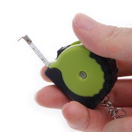 Wholesale Mini Retractable Measuring Tape - Wholesale- Mini Tape Measures With Key Chain Plastic Portable 1m Retractable Ruler cm Inch Tools