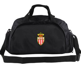 Wholesale Swim Zipper - AS Monaco duffel bag Quality club logo tote Swim backpack Football luggage Exercise shoulder duffle Outdoor sling pack