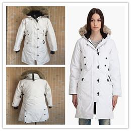 Wholesale Woman Goose Down Coat Sale - 2017 hot sale Women's KENSINGTON PARKA goose down jacket Coat Fu Winter thick cotton padded jacket cotton women jacket white collar cap