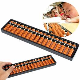 abacus de juguete Rebajas Nuevos Materiales no tóxicos Plastic Abacus Aritmética Soroban 17 Dígitos Kids Maths Calculating Tool Juguetes educativos 26.8cm x 1.5cm