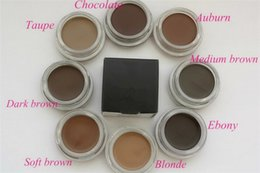 Wholesale Wholesale Hot Chocolate Mix - Hot Eyebrow Enhancers Eyebrow cream Pomade Medium Brown Waterproof Makeup Eyebrow 4g Blonde Chocolate Dark Brown Ebony Auburn Medium Brown T