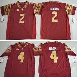 Wholesale Deion Sanders Florida State - Hot Christmas Florida State Seminoles 4 Dalvin Cook 2 Deion Sanders 5 ameis Winston 12 Deondre Francois Jersey Embroidery Authentic Stitched