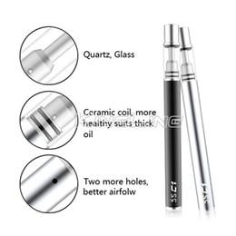 Wholesale Green Co2 - Vaporizer Oil Pen Disposable E Cigarettes Empty Vape Pen Ceramic Coil Buttonless Battery 320mah for Essential Thick CO2 0.5ml Green Oil