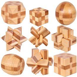 Wholesale Wholesaler Wooden Iq Toys - Wholesale- 2016 New Excellent Design IQ Brain Teaser 3D Wooden Interlocking Burr Puzzles Game Toy For Adults Kids wholesale