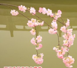 Wholesale Sakura Wedding - Single cherry blossom flower New Design with Drooping branches and Thick petals premium various size sakura bloom Outdoor Flower arrangement