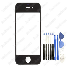 Wholesale Iphone 4s Front Glass Tools - Front Outer Touch Screen Glass Replacement for iPhone 4 4s Black White with Tools