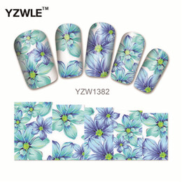 Wholesale Watermark Nails - Wholesale- YZWLE 1Pcs Nail Art Water Sticker Nails Beauty Wraps Foil Polish Decals Temporary Tattoos Watermark(YZW1382)