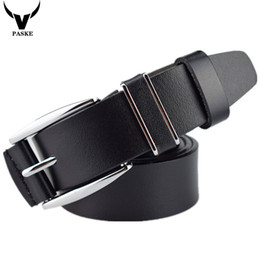 Wholesale Cinturones Vintage - Wholesale- 2016 New100% cowhide genuine leather belts for men brand Strap male pin buckle fancy vintage jeans cintos cinturones hombre L092