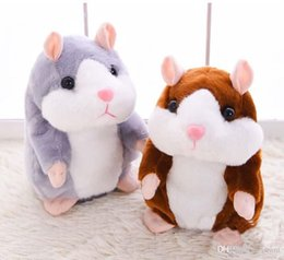 Wholesale Hamster Sound - Hot sale popular 15cm Talking Hamster Talk Sound Record Repeat Stuffed Plush Animal Kids Child Toy Talking Hamster Plush Toys