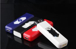 Wholesale Electronic Cigarette Super Battery - Electronic Lighter Rechargeable Electronic Lighter No Gas Super Man Turbo Battery Windproof Flameless Free DHL Shipping