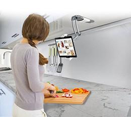 Wholesale Mini Ipad Mount - 2-in-1 Kitchen Mount Stand for 7-13 Inch Tablets iPad (2017) iPad Pro 9.7, 10.5, 12.9 Surface Pro IPad mini