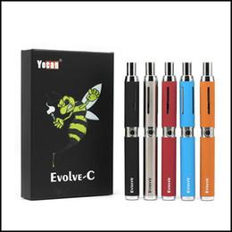 Seco c on-line-Autêntico Yocan Evolve-C Starter Kit 650 mAh Erva Seca Herb Vaporizador Caneta Kit com Quartzo Dupla Bobina 100% Original