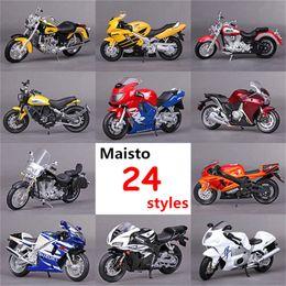 Wholesale Honda Diecast - 1:18 Maisto Motorcycle Model Toy Diecast & Alloy Yamaha Kawasaki Honda Ducati Miniature Motorbike Simulation Car Toys Brinquedos