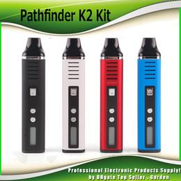 Vapor de hierbas cigarrillo electronico online-Pathfinder V2 2 hierba seca Vaporizador pluma herbario Kits de inicio hebe cigarrillo electrónico Kit 2200mah vapor 510 hilo DHL 0209649