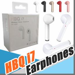 беспроводные черные наушники Скидка Black HBQ I7 Mini Bluetooth Earbud Single Wireless Невидимые наушники с микрофоном Bluetooth-наушники для Android для iphone