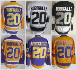 Wholesale Nylon King - Throwback Los Angeles Kings Hockey Jersey #20 Luc Robitaille Jersey Vintage LA KINGS Luc Robitaille Stitched Mens Hockey Jerseys S-XXXL
