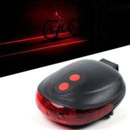 Wholesale Rear Flash Light - Bike Lights 2 Laser 5 LED Cycling Bicycle Bike Taillight Bicycle Rear Lamp Warning Lamp Flash Alarm Light