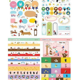 Wholesale Paper Crafting Books - Wholesale- Paper Craft Memo Pads Lovely DIY Stickers Planner Calendar Book Cute Diary Sticker Scrapbook Decoration 8 Sheets 1 Pack