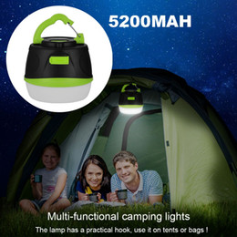 Wholesale Rechargeable Power Bank - Camping Light Super Bright Waterproof LED light 200LM Magnetic Lamp Outdoor Camp Light With USB Charging Cable Rechargeable Power Bank