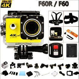 "Wholesale Underwater Helmet Camera - Remote Action camera F60   F60R Allwinner V3 4K   30fps WiFi 2.0"" 170D go Helmet Cam pro underwater waterproof Sport camera DVR"