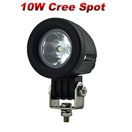 Wholesale Honda Pc - 2 PCS 10W Cree LED Driving Lights Round Headlight Motorcycle Spot Flood Beam Work Light Motorbike Auxiliary Lights