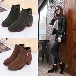 Wholesale Winter Hidden Wedges Shoes - New Autumn Winter Shoes Woman Hidden Wedges High Heels Women Boots Platform Anti-slip Martin Boots with zipper 178-1
