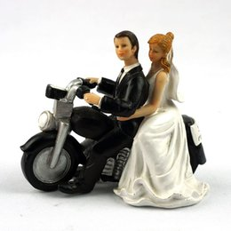Wholesale Motorcycle Ornaments - Resin crafts, motorcycle wedding, room decoration, cake decoration, doll, resin, doll, doll