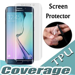 Wholesale screen protector front back - Full Coverage Curved Soft TPU Anti-Scratch Front and Back Screen Protector For iPhone X 8 7 Plus 6 6S SE 5S 5 Samsung Note 8 5 S8 S7 Edge