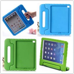 Wholesale Wholesale Safe China - Portable Kids Safe Foam Shock Proof EVA Case Handle Cover Stand for iPad mini 1234 2 3 4 Air 5 6 Pro free shipping
